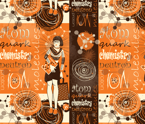 Chic chemist geek fabric by kociara on Spoonflower - custom fabric