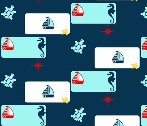 Summer Sailing fabric by becana on Spoonflower - custom fabric