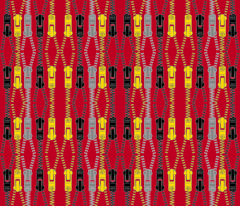 GEEK CHIC ZIPPED fabric by bluevelvet on Spoonflower - custom fabric