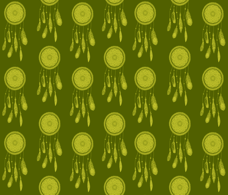 Pear Tone Dream Catchers fabric by campbellcreative on Spoonflower - custom fabric