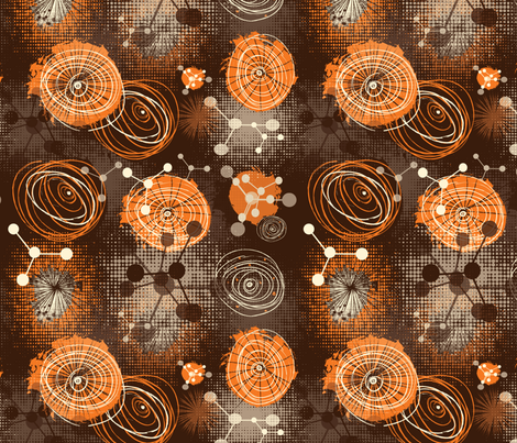 molecules fabric by kociara on Spoonflower - custom fabric