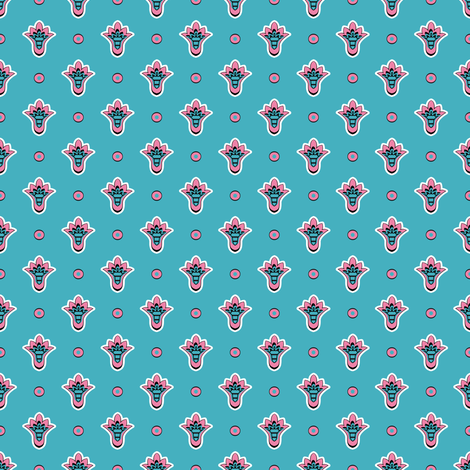 Soleiado Pop Blue fabric by vannina on Spoonflower - custom fabric