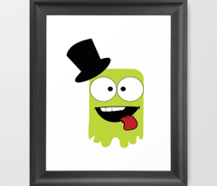 Green Top Hat Monster