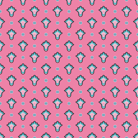 Soleiado Pop Pink fabric by vannina on Spoonflower - custom fabric