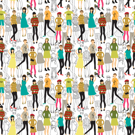 Hipster dot com workers are absolute geeks fabric by vo_aka_virginiao on Spoonflower - custom fabric