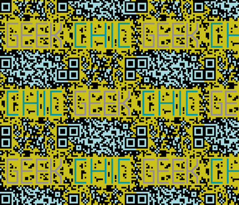 geek chic bar code lime fabric by katarina on Spoonflower - custom fabric