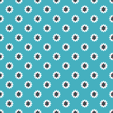 Soleiado Pop Flower Blue fabric by vannina on Spoonflower - custom fabric
