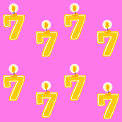 7th Birthday Candle