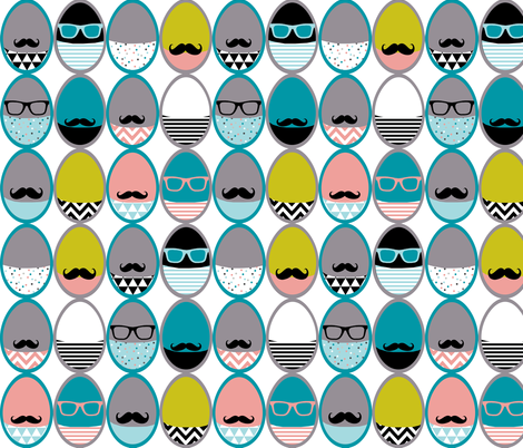 geeky eggs fabric by katarina on Spoonflower - custom fabric