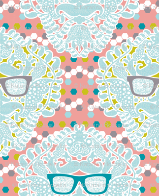 damask geek salmon