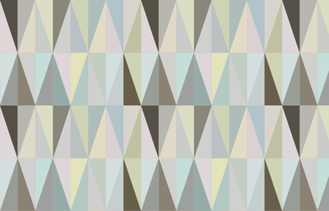 spring triangles fabric by saltlabs on Spoonflower - custom fabric