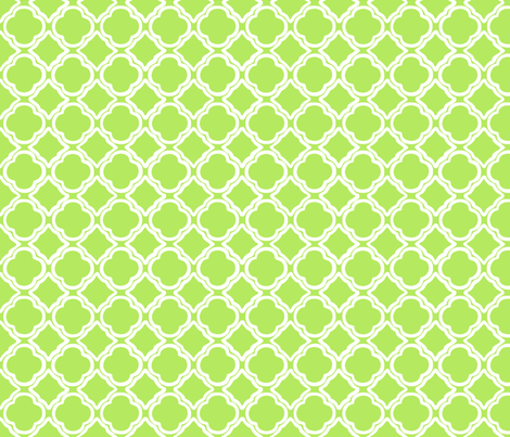 Penny's Trellis Apple Green fabric by lulabelle on Spoonflower - custom fabric