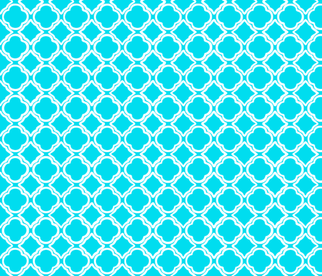 Trellis Blue Reverse fabric by lulabelle on Spoonflower - custom fabric