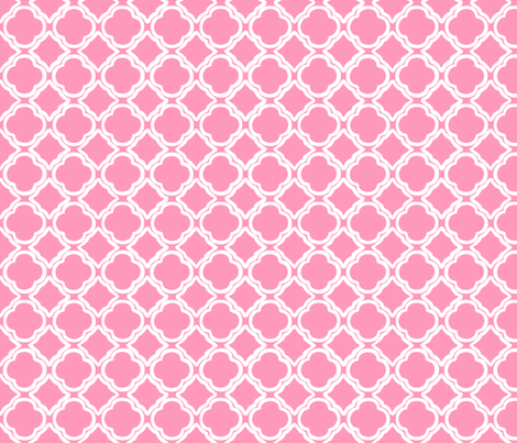 Penny's Trellis Pink fabric by lulabelle on Spoonflower - custom fabric