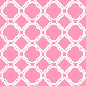 Trellis Light Pink Reverse