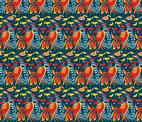 Sailing Under the Sea fabric by poshcrustycouture on Spoonflower - custom fabric