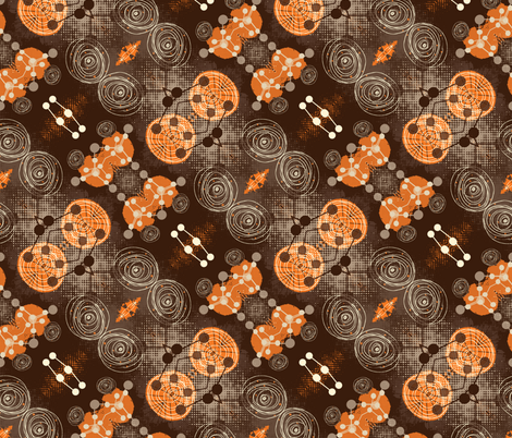 molecules 5 fabric by kociara on Spoonflower - custom fabric