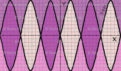 Function of x - geek chic - in pink purple