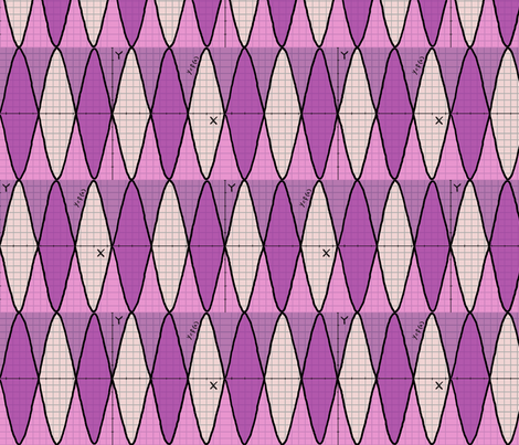 Function of x - geek chic - in pink purple fabric by martaharvey on Spoonflower - custom fabric