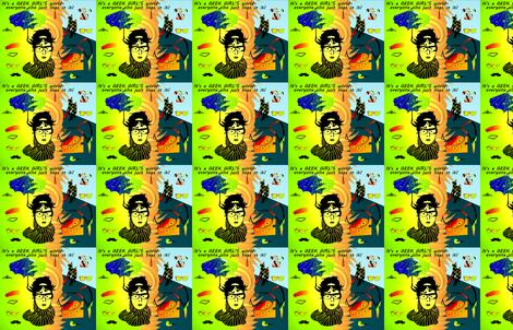 GEEK CHIC GIRL'S WORLD fabric by retroretro on Spoonflower - custom fabric