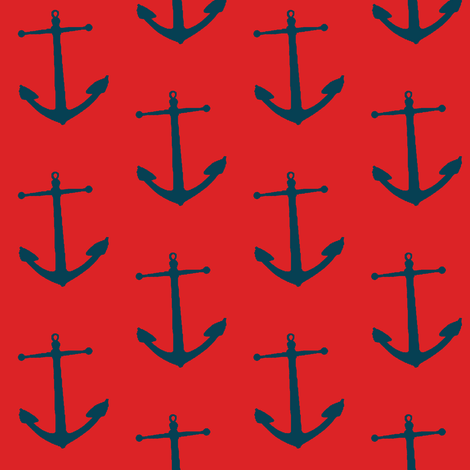 hoist the anchor! fabric by mezzime on Spoonflower - custom fabric