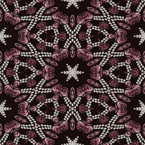 roses and pearls 8 fabric by kociara on Spoonflower - custom fabric