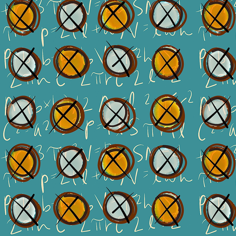 geometry test cheat sheet fabric by smudged_textiles_studio on Spoonflower - custom fabric