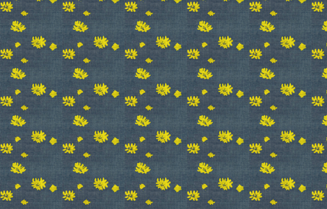 Lovely Linens (Yellow & Charcoal) fabric by vanillabeandesigns on Spoonflower - custom fabric