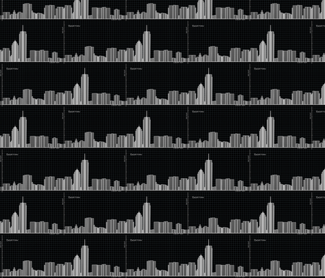 Graph of Boston Skyline - Geek Chic in black fabric by martaharvey on Spoonflower - custom fabric