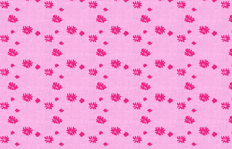 Lovely Linens (Fuschia and Pale Pink) fabric by vanillabeandesigns on Spoonflower - custom fabric