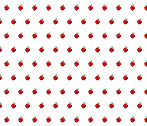 Strawberries fabric by de-ann_black on Spoonflower - custom fabric