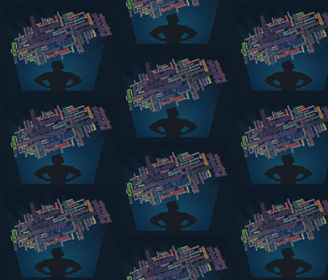 Heroic Geeks fabric by bigmamaslegacy on Spoonflower - custom fabric