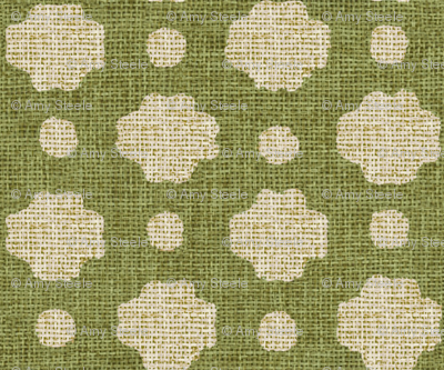 Grass Burlap Fabric