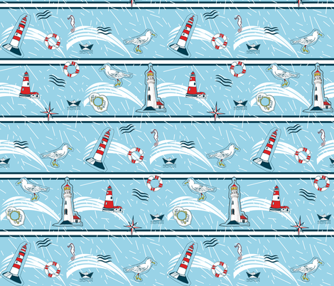 NAVIGATE ON FABRIC fabric by mariskadesign on Spoonflower - custom fabric