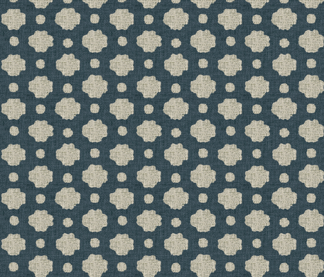 Navy Burlap fabric by sparrowsong on Spoonflower - custom fabric
