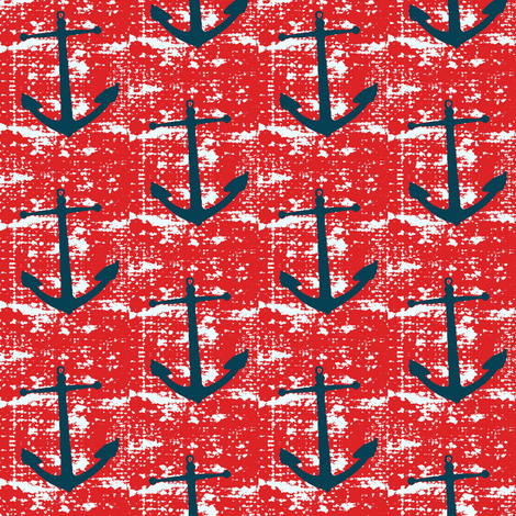 Anchors away fabric by mezzime on Spoonflower - custom fabric