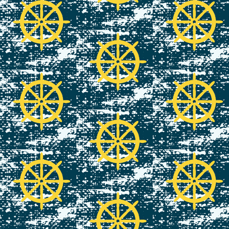 wheel be sailing away fabric by mezzime on Spoonflower - custom fabric