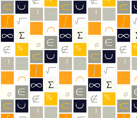 Math Geek Chic fabric by lauriebaars on Spoonflower - custom fabric