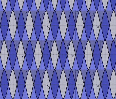Function of x - geek chic - in blue fabric by martaharvey on Spoonflower - custom fabric