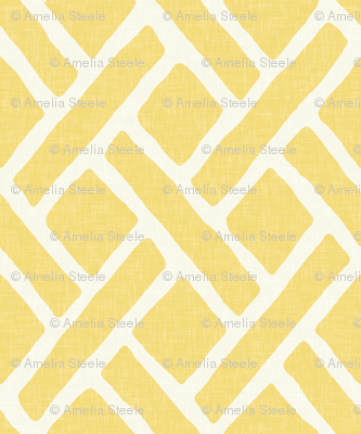 Savannah Trellis in Lemon