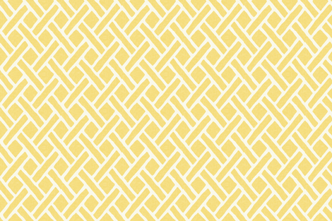 Savannah Trellis in Lemon fabric by willowlanetextiles on Spoonflower - custom fabric
