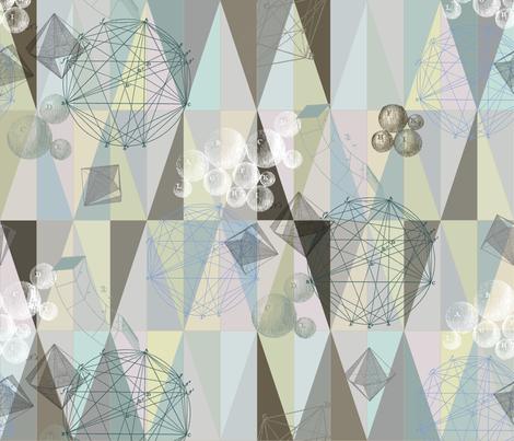 small pastel geometry fabric by saltlabs on Spoonflower - custom fabric