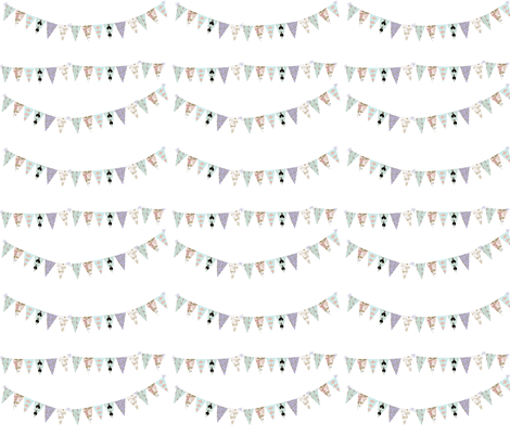 French Script Bunting for A French Dress Shoppe fabric by karenharveycox on Spoonflower - custom fabric