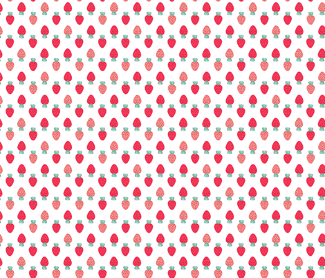 DitsynStrawberries fabric by kristinnohe on Spoonflower - custom fabric