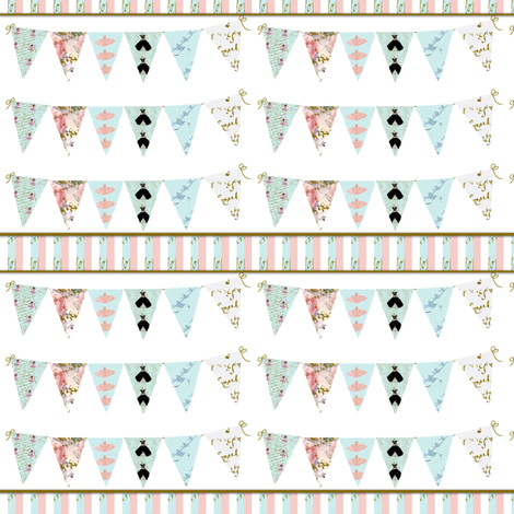 Dress Shop Bunting Stripe fabric by karenharveycox on Spoonflower - custom fabric