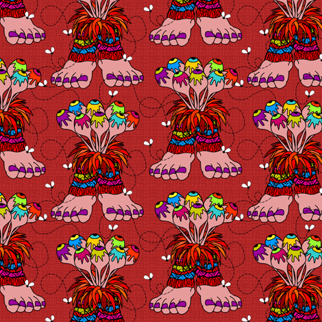 Dancing Wazzuzzis fabric by glimmericks on Spoonflower - custom fabric