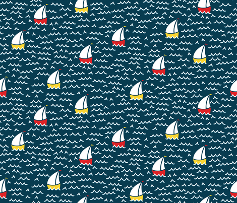 Sailing Along fabric by robyriker on Spoonflower - custom fabric