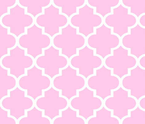 Pink Quatrefoil fabric by sparrowsong on Spoonflower - custom fabric
