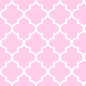 Pink Quatrefoil