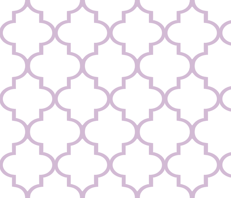 Lavender and White fabric by sparrowsong on Spoonflower - custom fabric